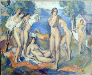 Bathers. Oil on canvas, 20 x 24 in., 1930